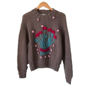 Pappagallo Hand Knit Vintage Chunky Sweater